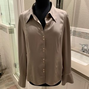 SEMANTIKS Platinum Silk Blouse